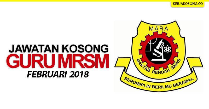 Thumbnail image for Jawatan Kosong Maktab Rendah Sains Mara (MRSM) 2018/2019
