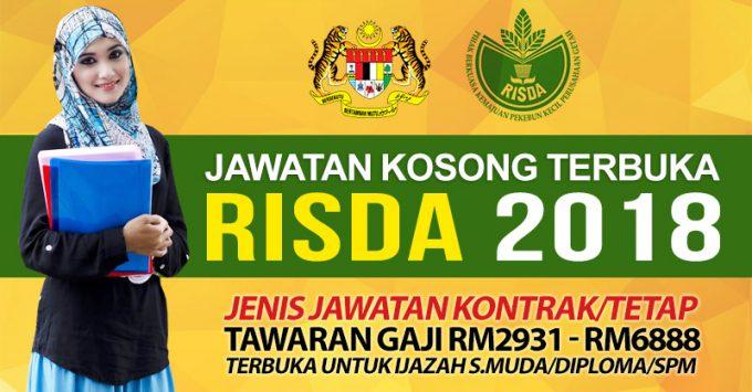 Thumbnail image for Jawatan Kosong Risda 2018 Terkini & Terbaru (Sila Isi Permohonan Sekarang)